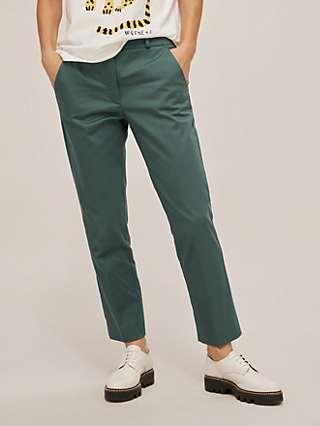 Weekend MaxMara Gineceo Slim Fit Cigarette Trousers, Dark Green