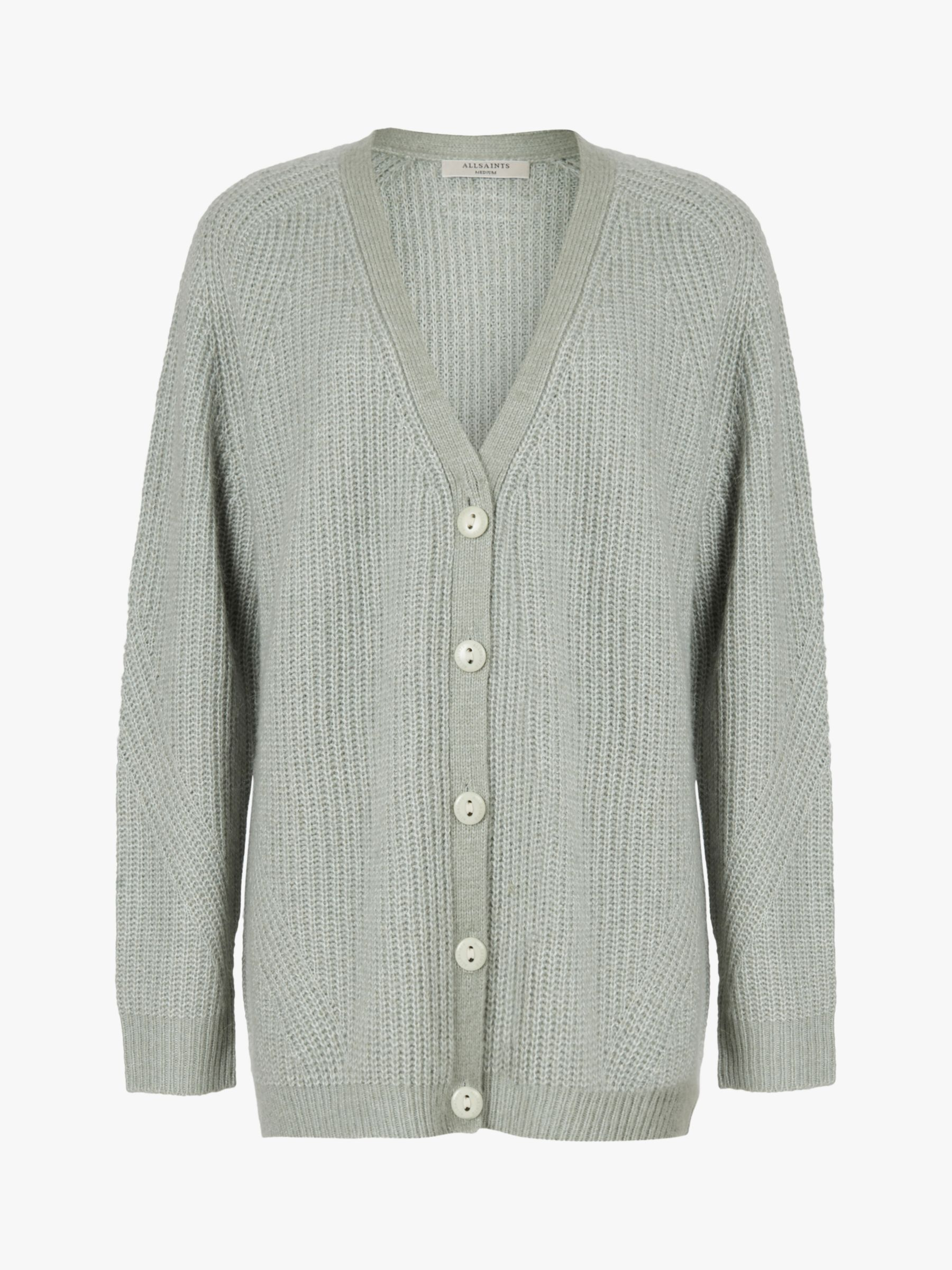 AllSaints Leanne Wool Blend Cardigan, Green Bay