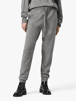 AllSaints Olly Cashmere Wool Blend Joggers, Grey Marl