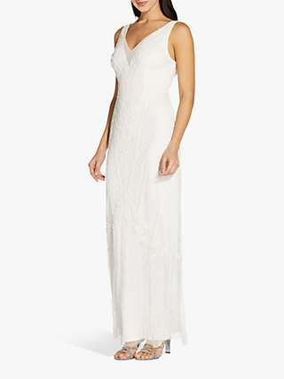 Adrianna Papell Beaded Embellished Gown, Ivory