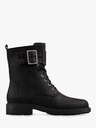 Clarks Orinoco 2 Leather Lace Up Ankle Boots