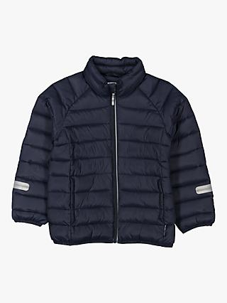 Polarn O. Pyret Children's Water Resistant Puffer Jacket, Navy