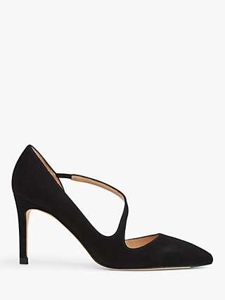 L.K.Bennett Heather Suede D'Orsay Court Shoes, Black