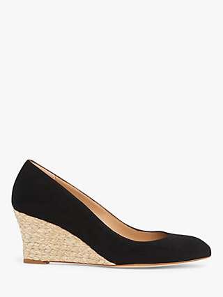 L.K.Bennett Eevi Leather Wedge Heel Court Shoes