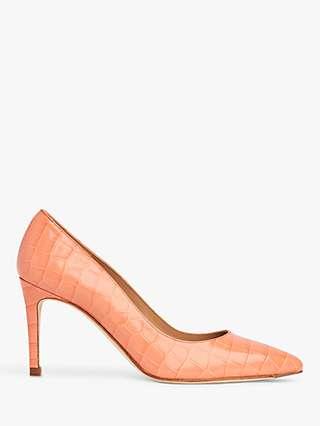 L.K.Bennett Floret Pointed Leather Court Shoes