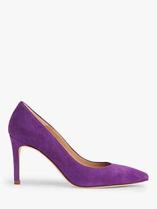 L.K.Bennett Floret Suede Pointed Toe Court Shoes