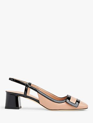 L.K.Bennett Hilary Leather Block Heel Slingbacks
