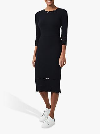 Hobbs Myra Knit Dress, Navy