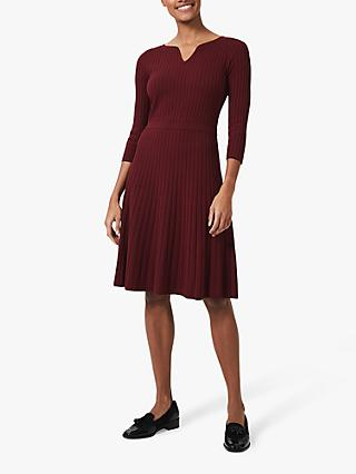 Hobbs Vanessa Knit Dress, Merlot