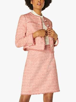 L.K.Bennett Celeste Tweed Skirt, Pale Pink