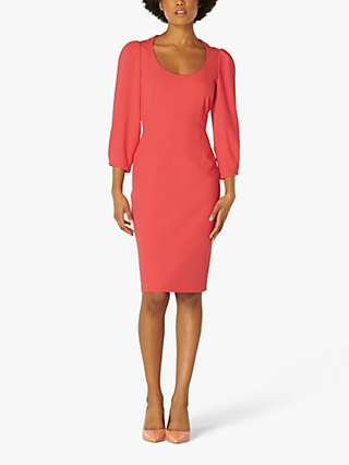 L.K.Bennett Josephine Crepe Scoop Neck Shift Dress, Pink