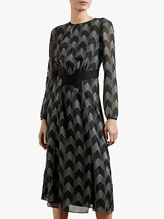 Ted Baker Aselli Double Split Midi Dress, Black