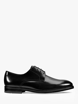 Clarks Oliver Lace Derby Leather Shoes, Black