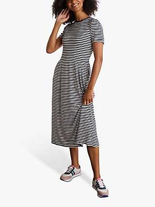 Boden Lucinda Midi Dress, Ivory/Navy