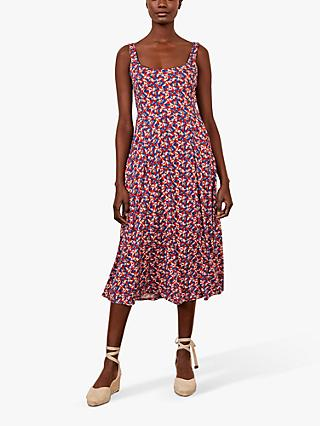 Boden Petronella Flamingo Print Dress, Milkshake/Multi