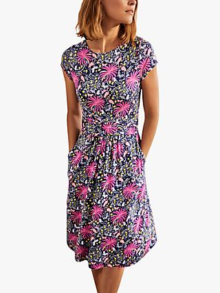Boden Amelia Jersey Dress, Tropical Charm