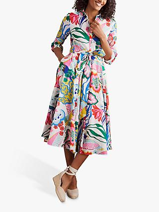 Boden Kitty Midi Dress, Exotic Escape