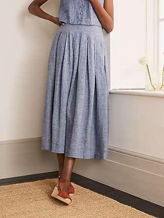 Boden Lydia Linen Skirt