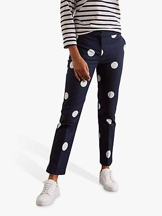 Boden Richmond 7/8 Trousers, French Navy