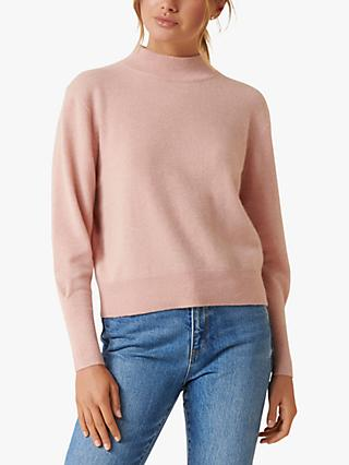 Forever New Sasha Cashmere Jumper, Soft Peach