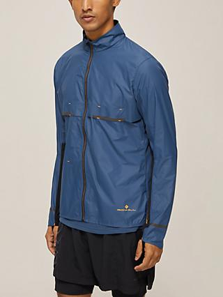 Ronhill Tech Tornado Men's Running Jacket, Peacoat/Neon Peach