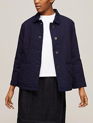 Toast Twill Quilted Jacket, Indigo