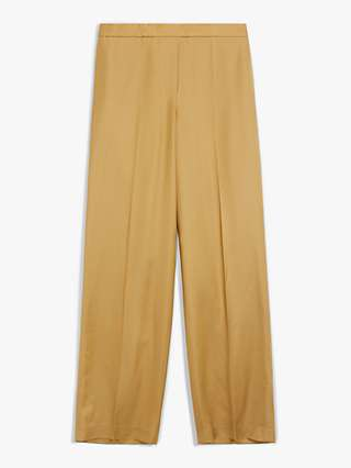 Theory Wide Leg Tailored Trousers, Camel