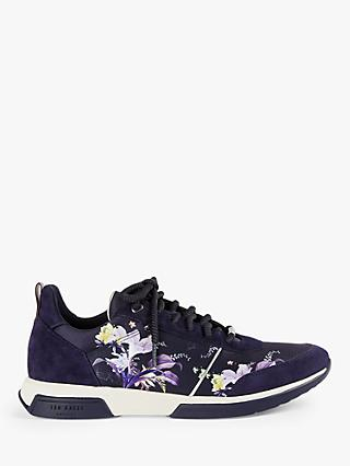 Ted Baker Ceyyas Floral Print Trainers, Navy