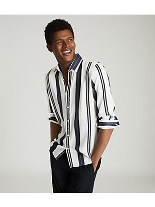 Reiss Fontaine Stripe Shirt, White