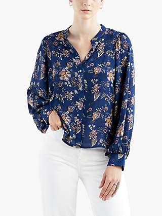 Levi's Hadley Long Sleeve Floral Print Blouse, Blue
