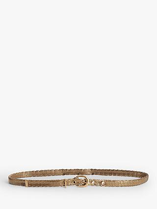 Gerard Darel Ysee Slim Metal Belt, Bronze