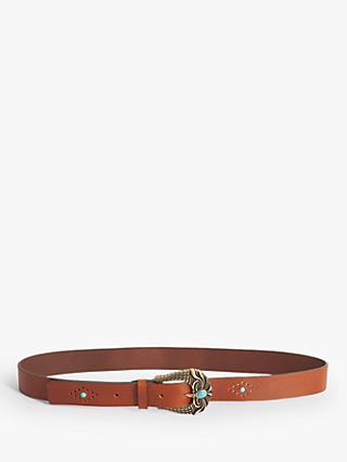 Gerard Darel Billy Leather Belt, Camel