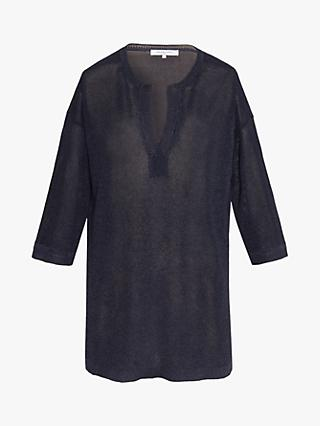 Gerard Darel Evely Knitted V-Neck Tunic, Blue