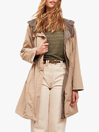 Gerard Darel Oliver Reversible Trench Coat, Khaki