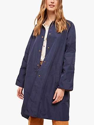 Gerard Darel Owen Reversible Trench Coat, Blue/Beige