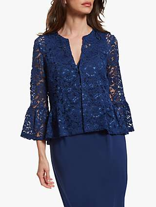 Gina Bacconi Kate Corded Lace Bolero Jacket