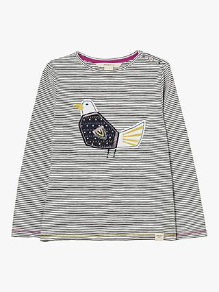 White Stuff Girls' Flying Home Embroidered Jersey T-Shirt, Navy