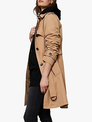 Mint Velvet Trench Coat, Camel