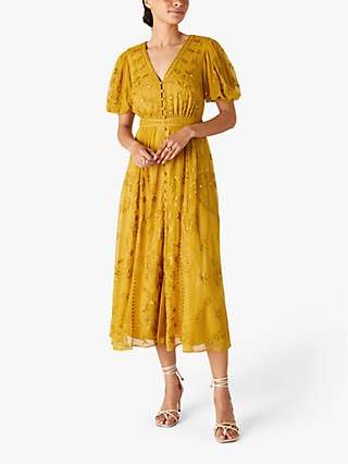 Monsoon Valerie Floral Print Midi Tea Dress