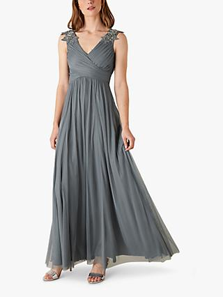 Monsoon Mischa Maxi Dress, Grey