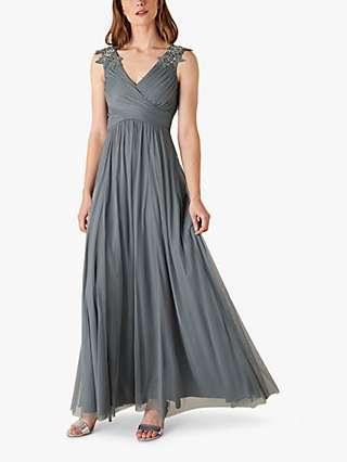 Monsoon Mischa Maxi Dress, Grey