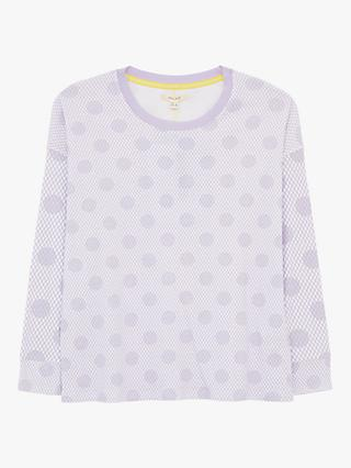White Stuff Dulcy Spot Print Tee, Light Purple