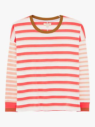 White Stuff Dulcy Striped Tee, Pink/Multi