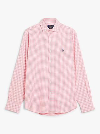 Polo Golf by Ralph Lauren Performance Check Shirt, Rose/White