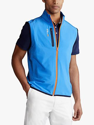 Polo Golf by Ralph Lauren RLX Golf Panelled Stretch Gilet, Colby Blue