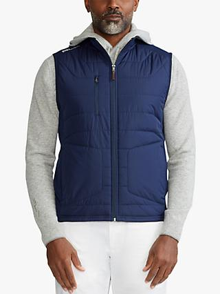 Polo Golf by Ralph Lauren RLX Golf Panelled Stretch Terry Vest, French Navy