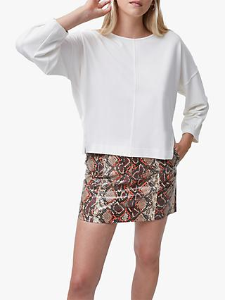French Connection Suzie Jersey Puff Sleeve Top