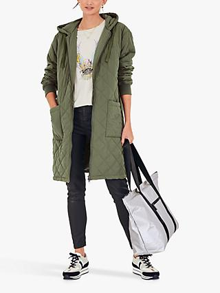 hush Denver Quilted Parka Coat, Olive