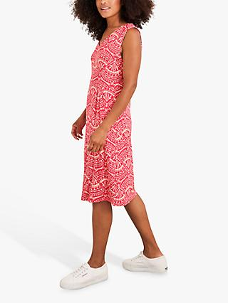 White Stuff Avery Abstract Print Day Dress, Raspberry Pink