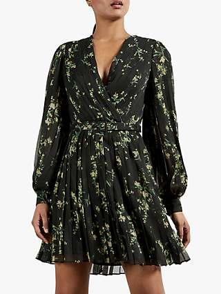 Ted Baker Izziiy Floral Print Dress, Black/Multi